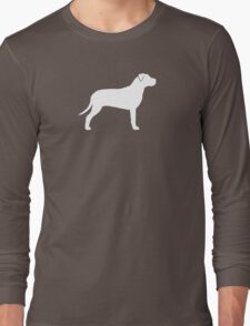 American Pit Bull Terrier Silhouette(s) Long Sleeve T-Shirt