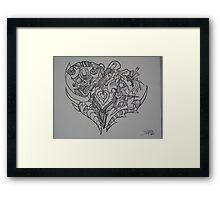 A Heart Full of Emotion Framed Print