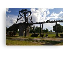 Old Mining Equipment  Canvas Print