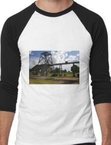 Old Mining Equipment  Men's Baseball ¾ T-Shirt