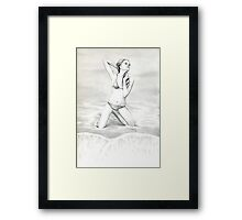 """Study of the Female Figure-Angles"" Framed Print"