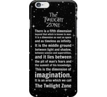 The Twilight Zone Intro iPhone Case/Skin
