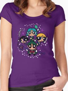 Outer Puff Girls Women's Fitted Scoop T-Shirt
