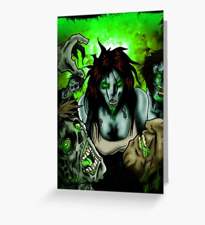 OMG Zombies Greeting Card