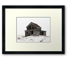 abandoned house on the prairies Framed Print