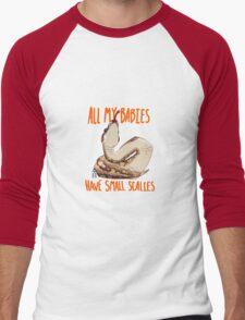 Scaly Snake Babies Men's Baseball ¾ T-Shirt