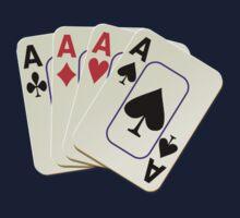 Deck of Lucky Ace Cards - Poker T-shirt Sticker One Piece - Long Sleeve