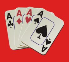 Deck of Lucky Ace Cards - Poker T-shirt Sticker Kids Tee