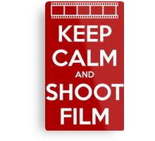 Keep Calm and Shoot Film Metal Print