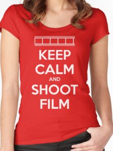 Keep Calm and Shoot Film Women's Fitted Scoop T-Shirt