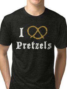 I Love Pretzels Tri-blend T-Shirt