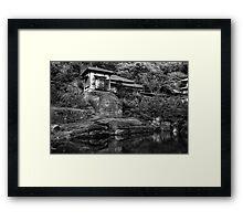 Peaceful abode near the pond Framed Print
