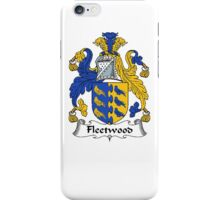 Coat of arms (family crest) for last-name or surname Fleetwood . Heraldry banner for your name. iPhone Case/Skin