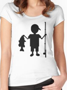 THE REEL BOY Women's Fitted Scoop T-Shirt