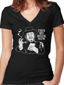 The Knick - This My Book Now Women's Fitted V-Neck T-Shirt