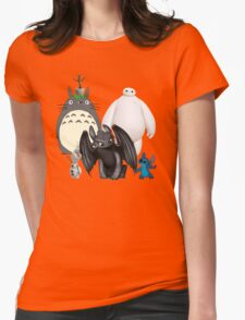 Animated Cute Womens Fitted T-Shirt