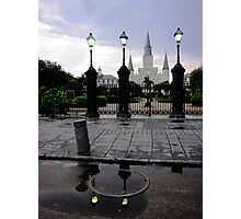St. Louis Cathedral with Reflection Photographic Print