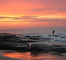 Fishing at dawn by Jeannine de Wet