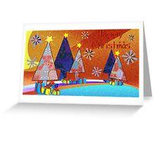 Teddy's Blanket Christmas Trees Greeting Card