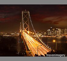 Oakland Bay Bridge-San Francisco by maventalk
