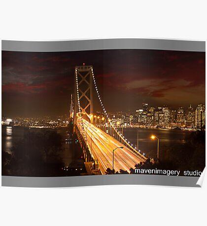Oakland Bay Bridge-San Francisco Poster