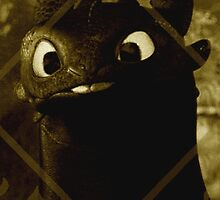 Toothless the night fury by CottonKandyGirl