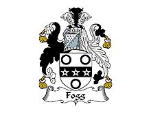 Coat of arms (family crest) for last-name or surname Fogg (e) . Heraldry banner for your name. Photographic Print