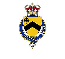 Coat of arms (family crest) for last-name or surname Foote (England) . Heraldry banner for your name. Photographic Print