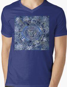 Sixth Chakra Mandala  Mens V-Neck T-Shirt