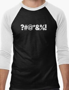 ?#@*&%! - Qbert Parody Swearing Men's Baseball ¾ T-Shirt