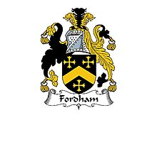 Coat of arms (family crest) for last-name or surname Fordham . Heraldry banner for your name. Photographic Print