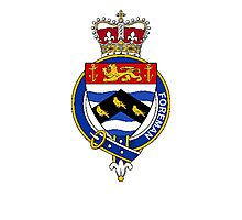 Coat of arms (family crest) for last-name or surname Foreman (England) . Heraldry banner for your name. Photographic Print