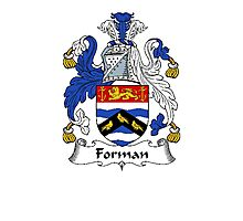 Coat of arms (family crest) for last-name or surname Forman . Heraldry banner for your name. Photographic Print