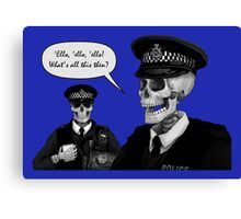 Skeleton Police (Blue) Canvas Print