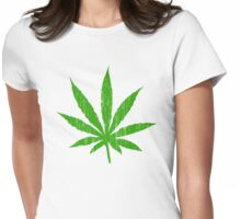 Marijuana Leaf Womens Fitted T-Shirt