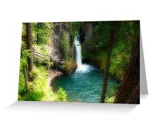 Waterfall In The Grotto Greeting Card