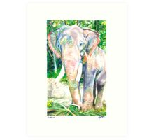 For Weezie (Elephant) Art Print