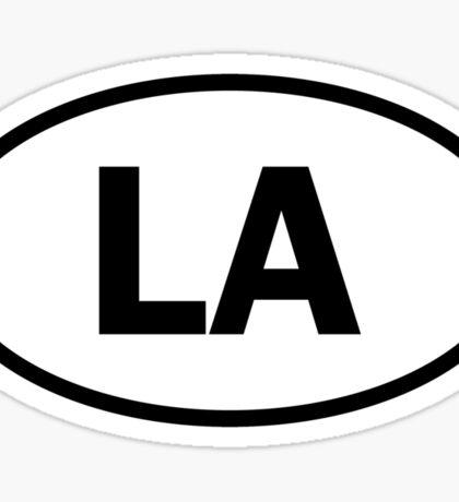 Louisiana / Los Angeles - LA - oval sticker and more Sticker