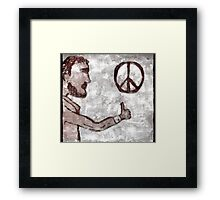 Thumbs-Up for Peace Framed Print