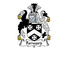 Coat of arms (family crest) for last-name or surname Forward . Heraldry banner for your name. Photographic Print