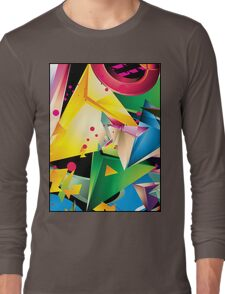 Abstract Design (Large Graphic) Long Sleeve T-Shirt