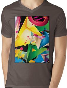 Abstract Design (Large Graphic) Mens V-Neck T-Shirt