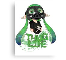 Squid AND a Kid -Green- Canvas Print