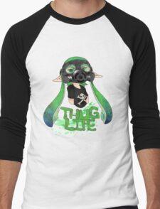 Squid AND a Kid -Green- Men's Baseball ¾ T-Shirt