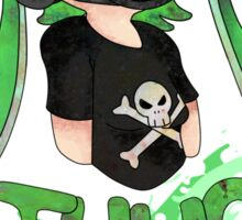 Squid AND a Kid -Green- Sticker
