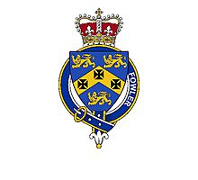 Coat of arms (family crest) for last-name or surname Fowler (England) . Heraldry banner for your name. Photographic Print
