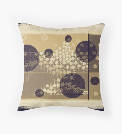 Yahm  Vintage - Rice Paper Screen Throw Pillow