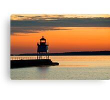 Beacon at Two Harbors Canvas Print