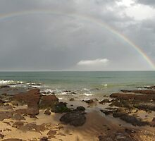 Double rainbow over the Ocean - Lorne, Australia by Dan & Emma Monceaux