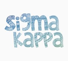 Sigma Kappa Tribal Sticker (Blue) by Kristin Sheaffer